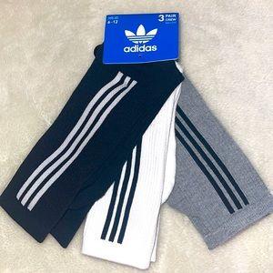 ❤️NEW!❤️UNISEX, Adidas 3 pairs of Crew Socks.